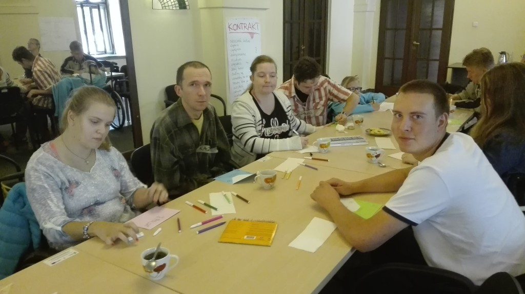 zdjęcie z szkolenia dla osób niepełnosprawnych